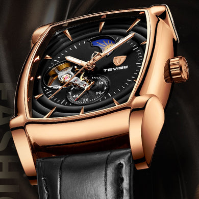 Tevise Automatic Watch Men Luxury Brand Mens Mechanical Watches Tourbillon Male Self-Winding Sport Wristwatch Relogio Masculino