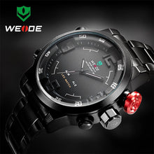 Load image into Gallery viewer, Top Luxury Brand WEIDE Men Full Steel Watches Men's Quartz Analog LED Clock Man Fashion Sports Army Military Wrist Watch