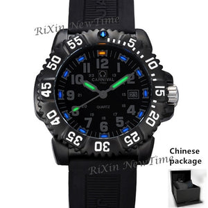 Top brand luxury tritium luminous quartz watch men waterproof sports men watches full steel clock tritium light uhren damen saat
