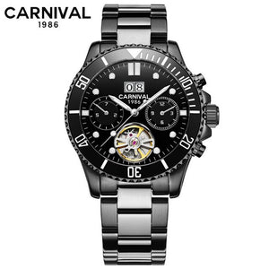 Tourbillon Mechanical Watches Men Top Luxury Brand Carnival Watch Sports Automatic Watches Waterproof Men Watch Relogio Luminous