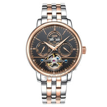 Load image into Gallery viewer, Tourbillon Mens Watches switzerland Carnival Luxury Brand Waterproof Automatic Mechanical Watch leather strap montre homme uhren
