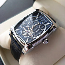 Load image into Gallery viewer, Transparent Skeleton Automatic Mechanical Watch Men Genuine Leather Belt Top Brand Luxury Self Winding Mens Retro Watch Clock