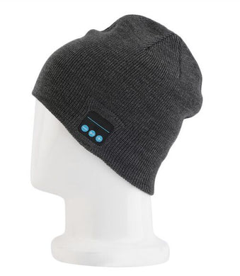 Smart Wireless Bluetooth Music Winter Warm Knitted Beanie Hat Headphones
