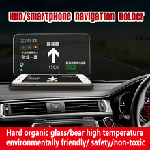 Load image into Gallery viewer, Universal HUD Head Car Phone Holder for GPS Navigation Image Reflector Bracket Dashboard Smartphone Holders Screen Display Stand
