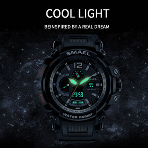 SMAEL Top Brand Luxury Men Digital LED Military Analog Watches