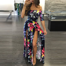 Load image into Gallery viewer, Women Dress 2018 Summer Long Maxi Dress Women Floral Print Dress Ankle-Length High Slit Bohemian Dress Female Big Size