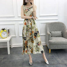 Load image into Gallery viewer, Women Summer Bohemian Dress 2018 Ladies Maxi Casual Floral Beach Boho Cotton Dresses Vintage Flower Long Female Elegant SunDress
