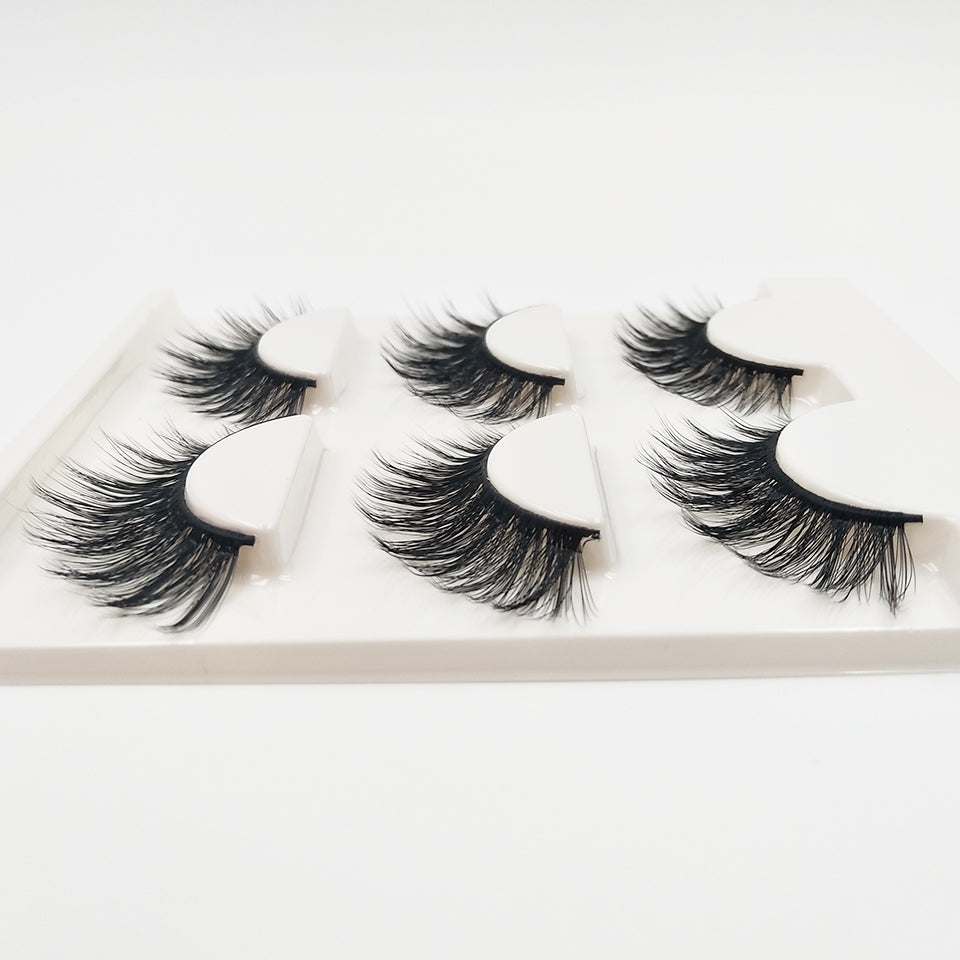 79ef3d70997 ... Load image into Gallery viewer, YAQIMEIER 3d False Eyelashes Hot 3D15 Handmade  Faux Mink Lashes ...