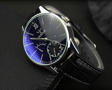 Load image into Gallery viewer, YAZOLE Mens Watches TOP Brand Luxury Business Watch Men Leather Quartz Blue Wrist Watches Ray Glass Relogio relogio masculino