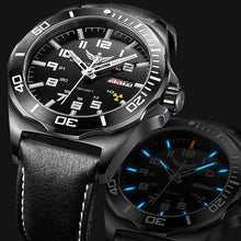Load image into Gallery viewer, YELANG V1019 mens steel waterproof 100m tritium luminous dual calendar business automatic mechanical wrist watch