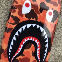Load image into Gallery viewer, Orange Camo Bathing Ape BAPE Shark iPhone case