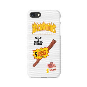 WhiteBackwoods Cigar Thrasher Flames iPhone case