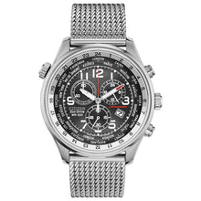 Load image into Gallery viewer, Citizen Eco-Drive Chronograph Silver-Tone Stainless Steel Men's Watch, Black