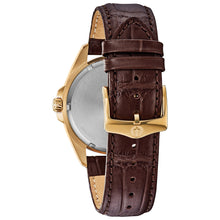 Load image into Gallery viewer, Bulova Leather Strap Quartz Men's Watch