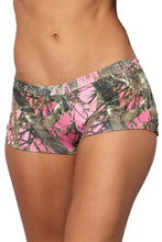 Load image into Gallery viewer, Women's Pink True Timber Hot Shorts Only Bikini