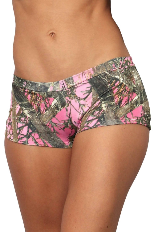 Women's Pink True Timber Hot Shorts Only Bikini