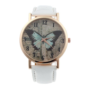 women butterfly watches Luxuxy Geneva Women Butterfly Leather Quartz Watch relojes mujer Casual Watch Female Watches
