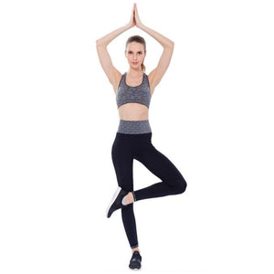 Women Athletic Gym Yoga Clothes Running Yoga Fitness Sports Suits Blue L