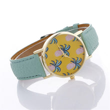Load image into Gallery viewer, Women Pineapple Chimes Pattern Quartz Watch Leather Straplt Table Watch