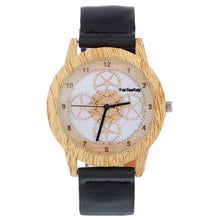 Load image into Gallery viewer, Women Wood Grain Analog Quartz Watch Leather Band Wrist Watch