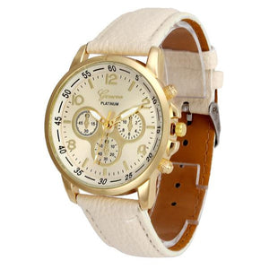 Unisex Casual Geneva Faux Leather Quartz Analog Wrist Watch Watches