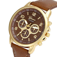 Load image into Gallery viewer, Unisex Casual Geneva Faux Leather Quartz Analog Wrist Watch Watches