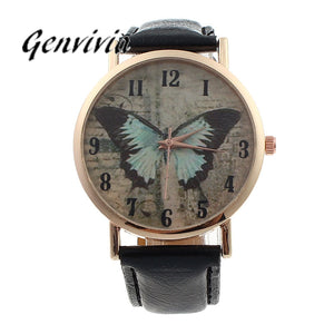 women butterfly watches Luxuxy Women Butterfly Leather Quartz Watch relojes mujer Casual Watch Female Watches #LD