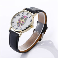 Load image into Gallery viewer, Women Creative Pattern Quartz Watch Leather Straplt Table Watch