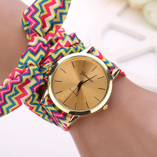 Load image into Gallery viewer, New Women Aztec Tribal Floral Cloth Quartz Dial Wristwatch Watch