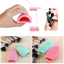 Load image into Gallery viewer, RUIMIO 2pcs Cleaning Makeup Washing Brush Silica Glove Scrubber Board Cosmetic Clean Tools