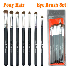 Load image into Gallery viewer, Retail JAF Classic 7pcs Brushes for Makeup 100% Natural Animal Horse Pony Hair Eye Makeup Brush Set JE07PY