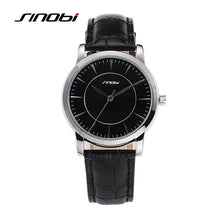 Load image into Gallery viewer, SINOBI Mens Watche Brand Luxury Men's Watch Fashion Leather Watch