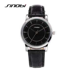 SINOBI Mens Watche Brand Luxury Men's Watch Fashion Leather Watch