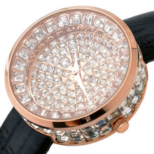 Load image into Gallery viewer, Luxury Full Diamond Bling Watch Rhinestone Women'S Watches Leather Watch