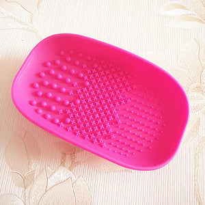 Silicone Multifunctional Soap Dish Makeup Brush Cleaner