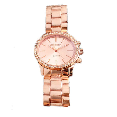 CONTENA Rose Gold Wrist Watch Women Watches Rhinestone Women'S Watches