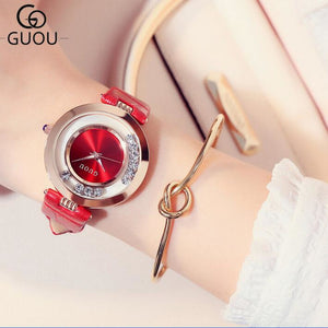 GUOU Luxury Flash Diamond Watch Women's Watch Fashion Ladies Watch