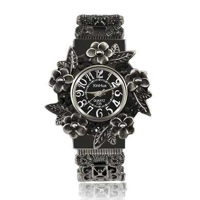 Vintage Flowers Bracelet Watch Ladies Watch Women'S Watches Clock