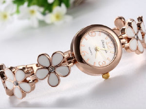 Luxury Crystal Flower Women'S Watch Bracelet Ladies Watch Women'S Watches