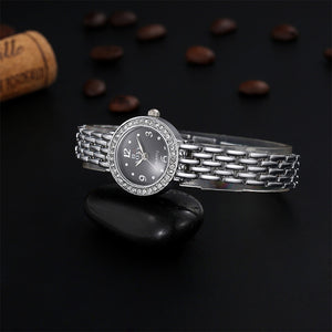 Soxy Silver Bracelet Watch Luxury Rhinestone Women'S Watches Ladies Watch