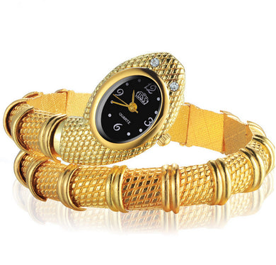 Snake Shaped Bracelet Watch Women Watches Gold Women'S Watches Creative Watch