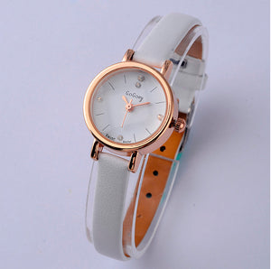 Gogoey Luxury Rhinestone Women'S Watches Leather Small Watch Women Watches