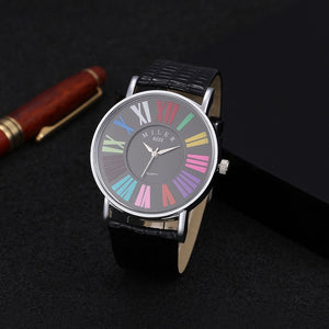 MILER Multicolor Roman Numerals Watches Ladies Watch Fashion Women'S Watches
