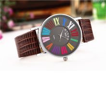 Load image into Gallery viewer, MILER Multicolor Roman Numerals Watches Ladies Watch Fashion Women'S Watches