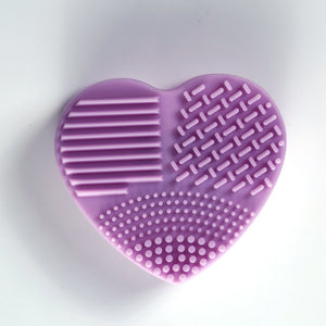 Silicone Glove Scrubber Makeup Brushes Cleaner Heart Shape 1 Piece