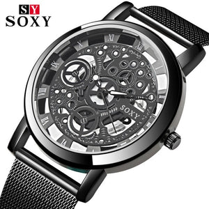 SOXY Wrist Watch Men Mesh Belt Women Unisex Quartz Watches Fashion Designer Hollow Watch relogio feminino montre femme 2019