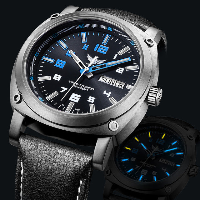 tritium watch men,mens military titanium automatic watches Yelang sport luxury waterproof mechanical wristwatch montre man V3.4