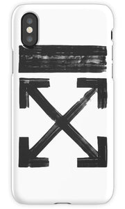 Off White Brushed Arrows Black Mobile Cover