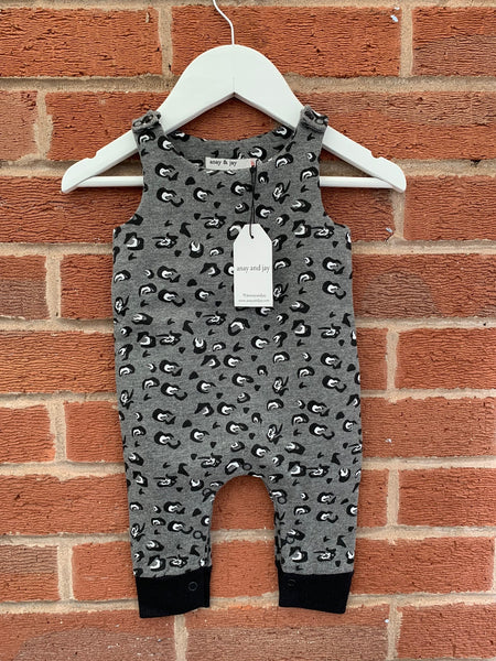 Unisex animal all over print baby romper