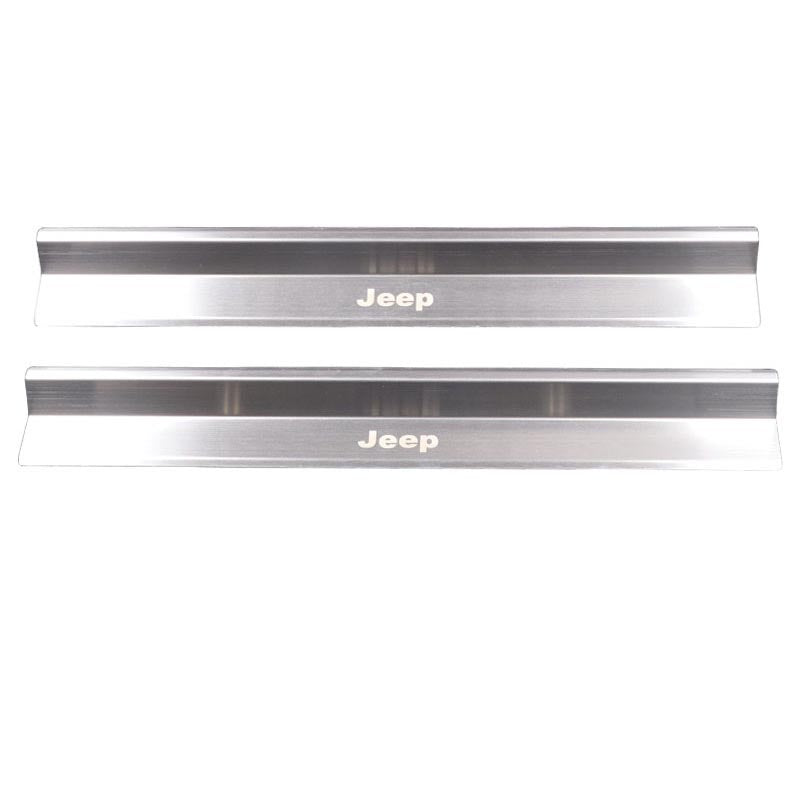 Stainless Steel Door Sill Protector Panel For Jeep Wrangler JK 07-17